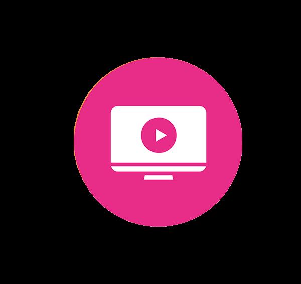 pictogramme vidéo en salle d'attente